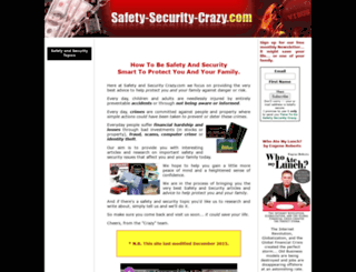 safety-security-crazy.com screenshot