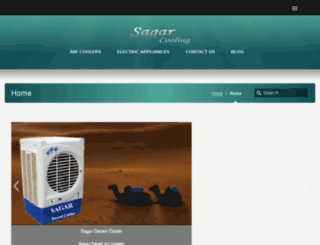 sagaraircoolers.com screenshot