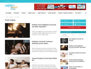 sagliklierkek.com screenshot