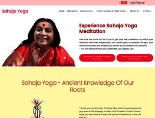 sahajayoga.org.in screenshot