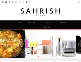 sahrishadeel.com screenshot