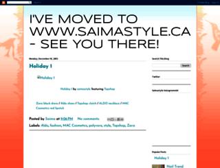 saimastyle.blogspot.ca screenshot