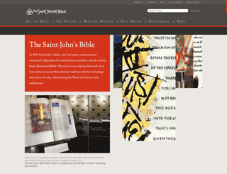 saintjohnsbible.org screenshot