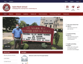 saintmarkschool.com screenshot