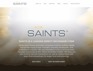 saintsvc.com screenshot