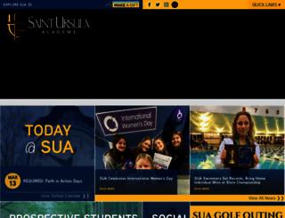 saintursula.org screenshot