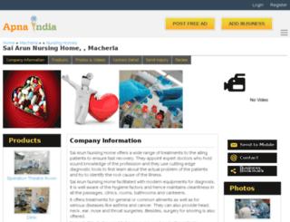 sainursinghome-macherla.apnaindia.com screenshot
