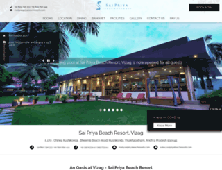 saipriyabeachresorts.com screenshot