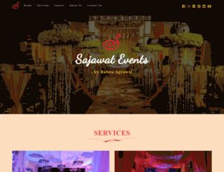 sajawatevents.com screenshot