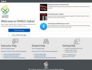 sakai.ohsu.edu screenshot