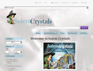 salem-crystals.com screenshot