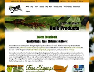 salembotanicals.com screenshot