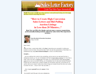 salesletterfactory.com screenshot