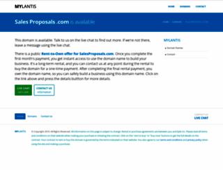 salesproposals.com screenshot