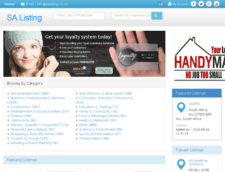 salisting.co.za screenshot
