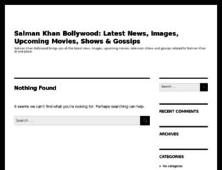salmankhanbollywood.com screenshot