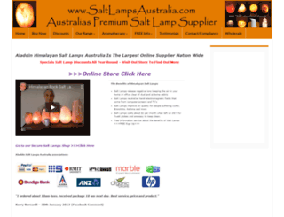 saltlamps.com.au screenshot