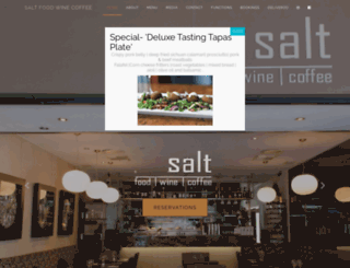 saltrestaurant.com.au screenshot
