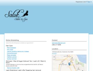 saluksalonandspa2.fullslate.com screenshot