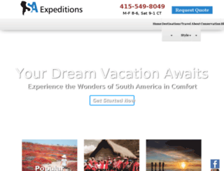 saluxuryexpeditions.com screenshot