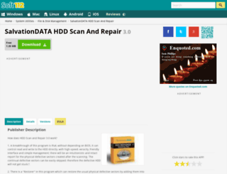 salvationdata-hdd-scan-and-repair.soft112.com screenshot