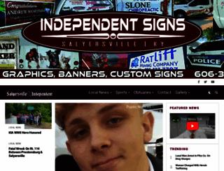 salyersvilleindependent.com screenshot