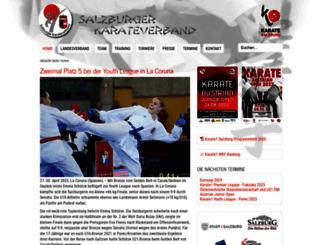 salzburger-karateverband.at screenshot