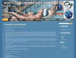 samastersswimming.com screenshot