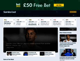 sambafoot.com screenshot