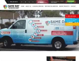 samedaycarpetcare.com screenshot