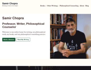 samirchopra.com screenshot