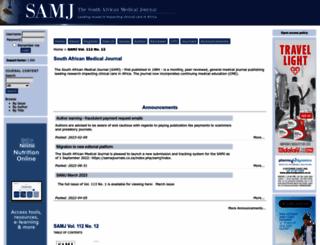 samj.org.za screenshot
