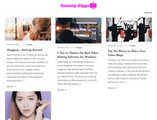 sammy-riggs.com screenshot