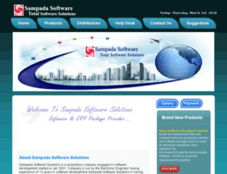 sampadasoftware.com screenshot
