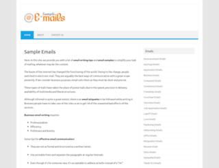 sampleemails.org screenshot