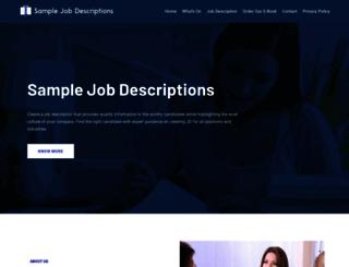 samplejobdescriptions.org screenshot