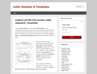 sampleletter1.com screenshot