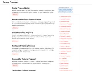 sampleproposal.org screenshot