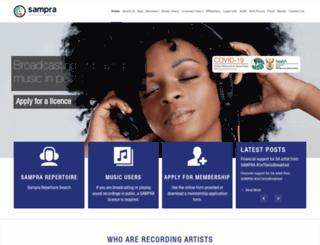 sampra.org.za screenshot