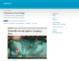 samsaya.blogg.no screenshot