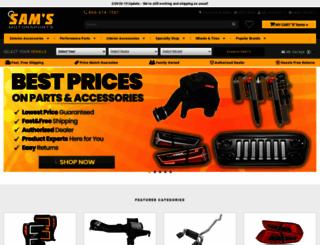 samsmotorsports.com screenshot