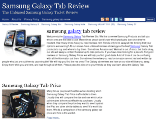 samsunggalaxytabreview.net screenshot
