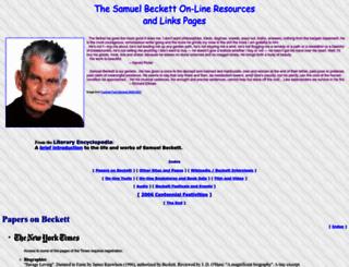 samuel-beckett.net screenshot