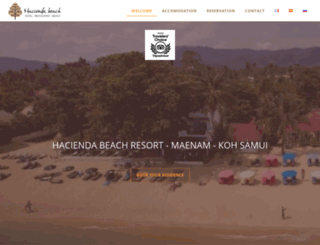 samui-haciendabeach.com screenshot