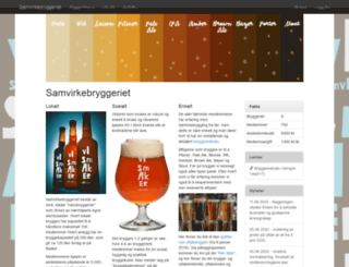 samvirkebryggeriet.no screenshot