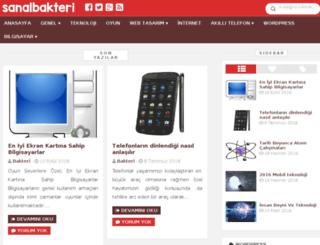 sanalbakteri.com screenshot