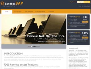 sandboxsap.com screenshot