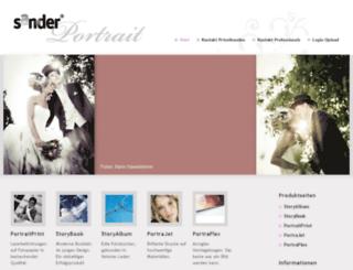 sander-portrait.de screenshot