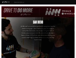 sandiego.jiffylube.com screenshot
