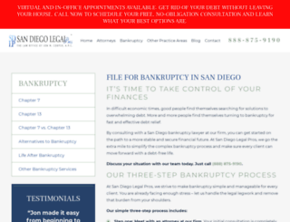 sandiegobankruptcypro.com screenshot
